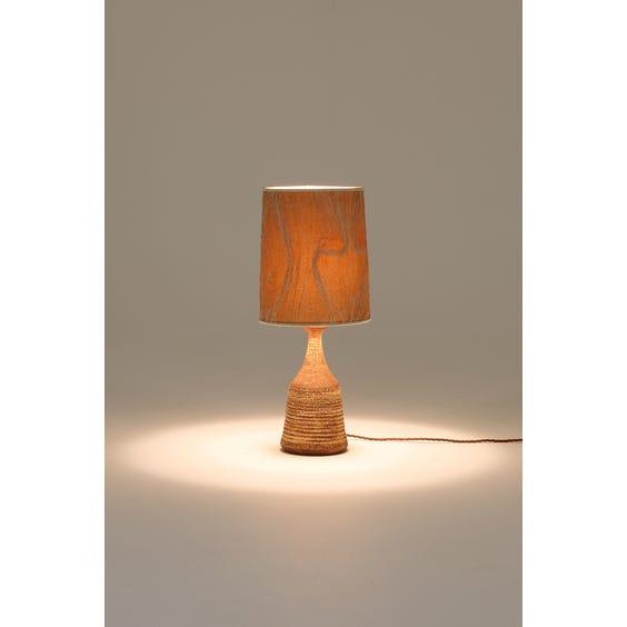 Midcentury studio pottery table lamp image