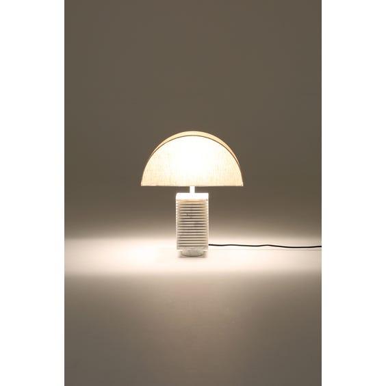 Postmodern marble sliced table lamp image