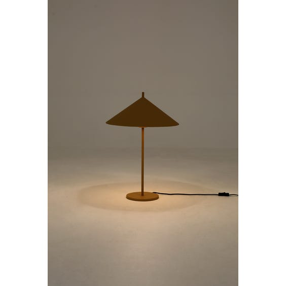 Ochre metal table lamp image