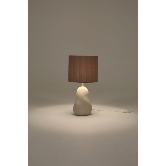 Postmodern pale putty table lamp image