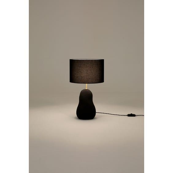 Postmodern charcoal grey table lamp image
