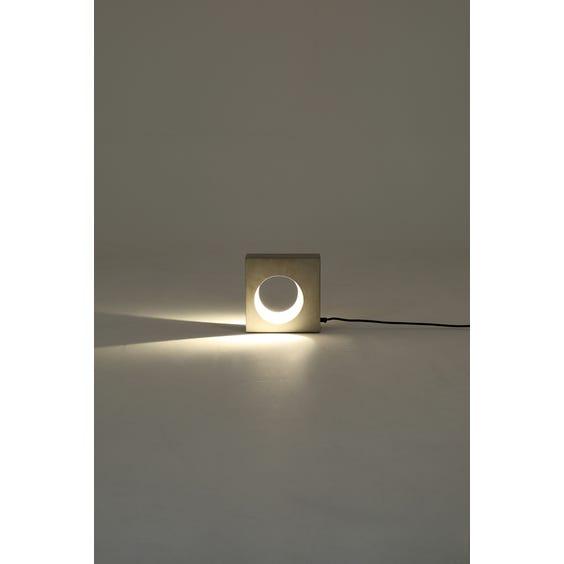 Brutalist square concrete table lamp  image