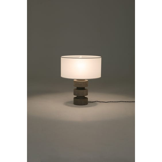 Stacked concrete disc lamp image