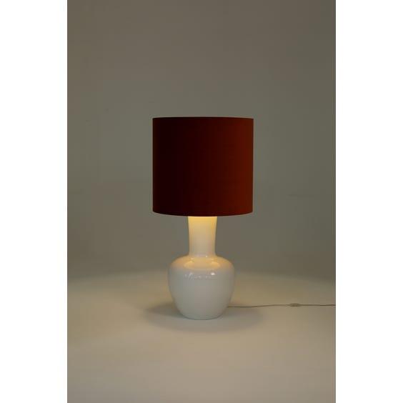 Large gloss white lamp image