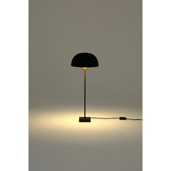 Tall black and brass dome lamp  image
