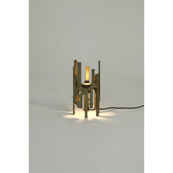Midcentury bronze brutalist table lamp image