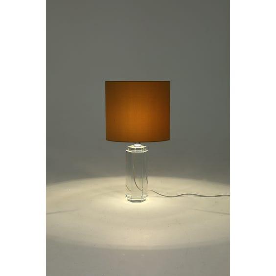 Clear glass hexagonal column lamp  image