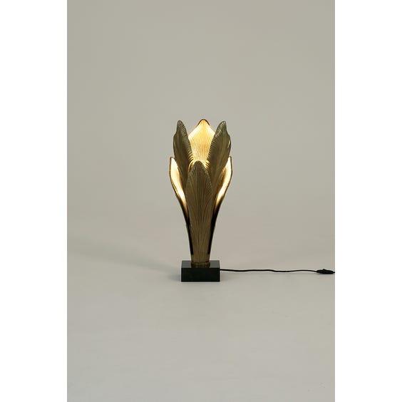 Midcentury brass maui leaf lamp  image