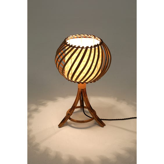 Midcentury rattan tripod lamp  image