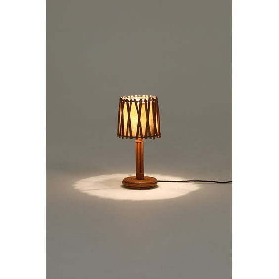 Midcentury French pencil reed lamp image