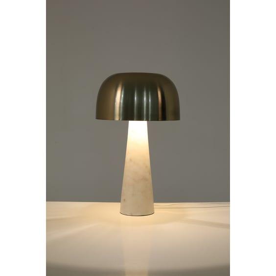 Postmodern Carrara marble table lamp  image