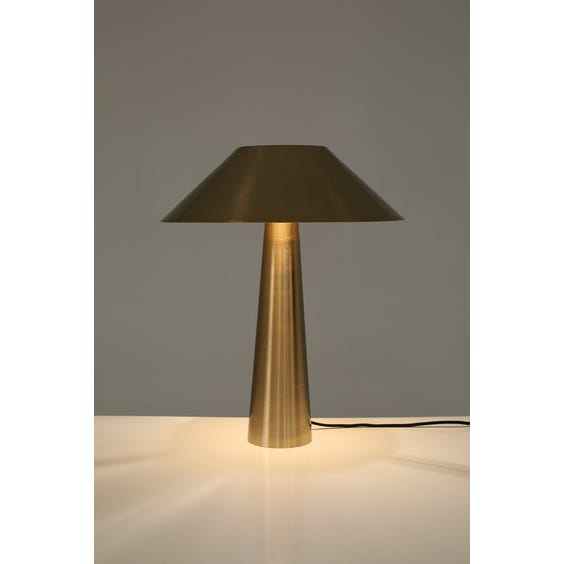 Postmodern brushed brass table lamp  image