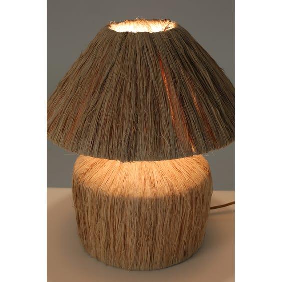 Postmodern raffia table lamp  image
