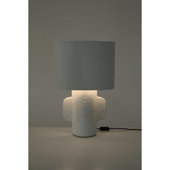 Postmodern papier mache table lamp  image