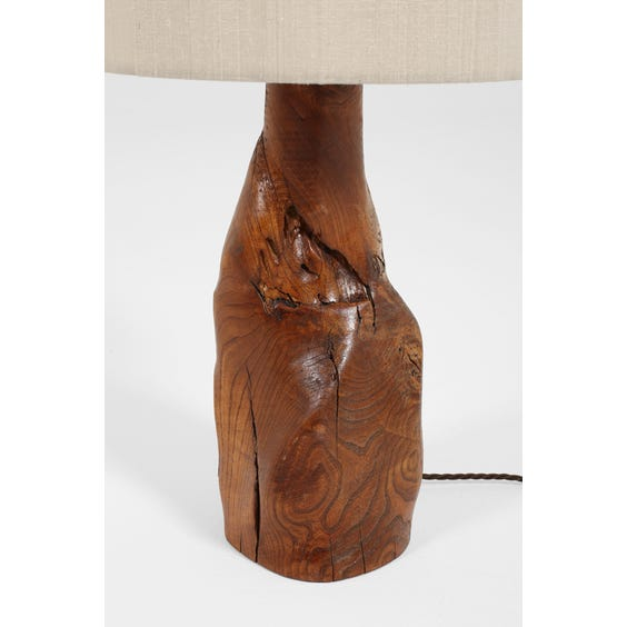 French olive wood table lamp image