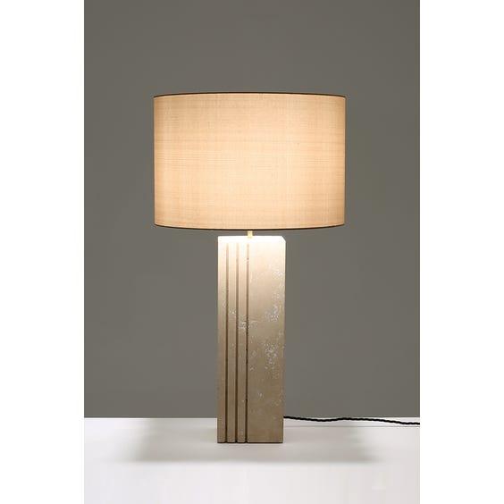 Travertine cubic column lamp image