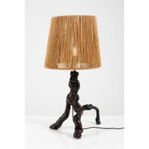 French wooden vine root lamp