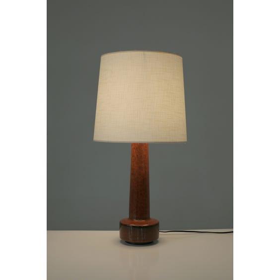 Burnt orange mottled glazed lamp image