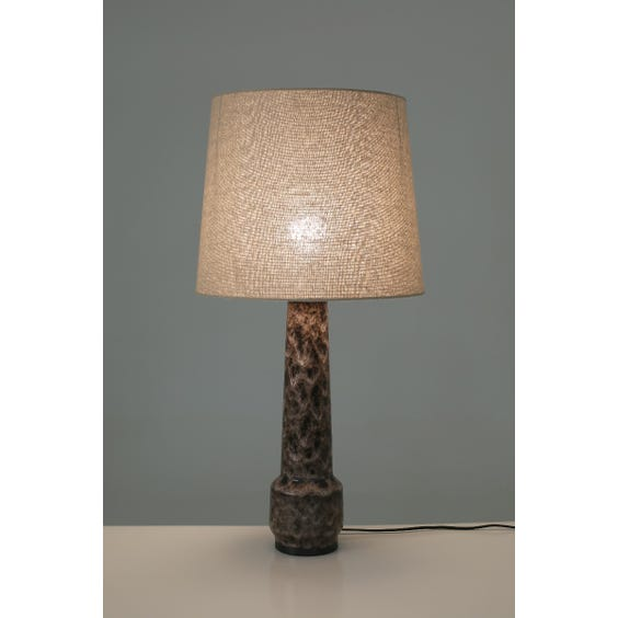 Mauve drip glazed table lamp image