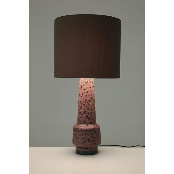 Muted raspberry lava glazed lamp image
