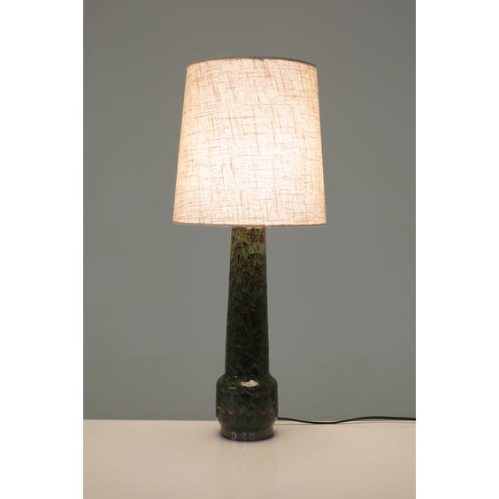 Forest green drip glazed lamp image