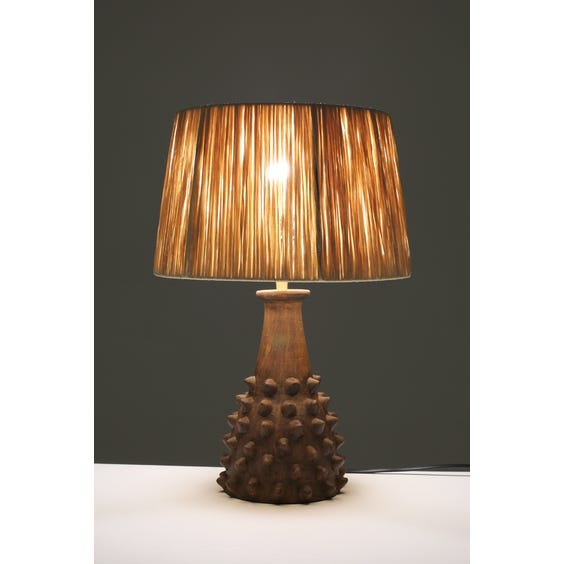 Primitive studded table lamp image