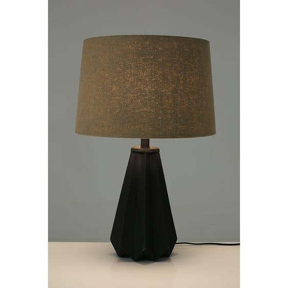 Geometric pleated table lamp image
