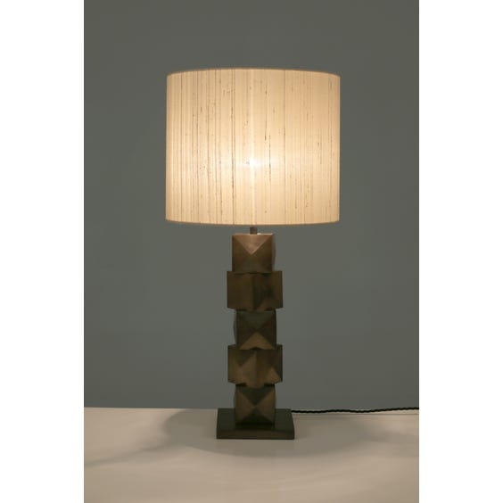 Midcentury stacked cubic lamp  image