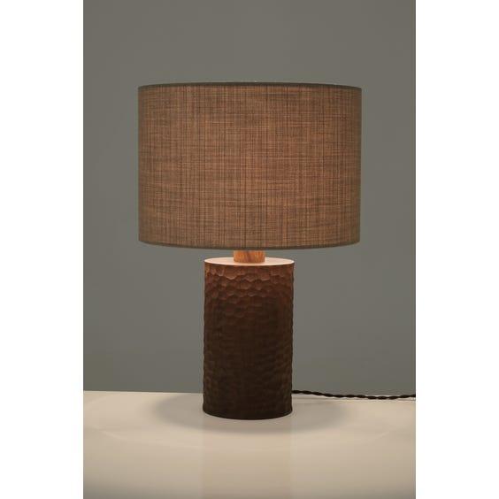 Modern walnut table lamp image