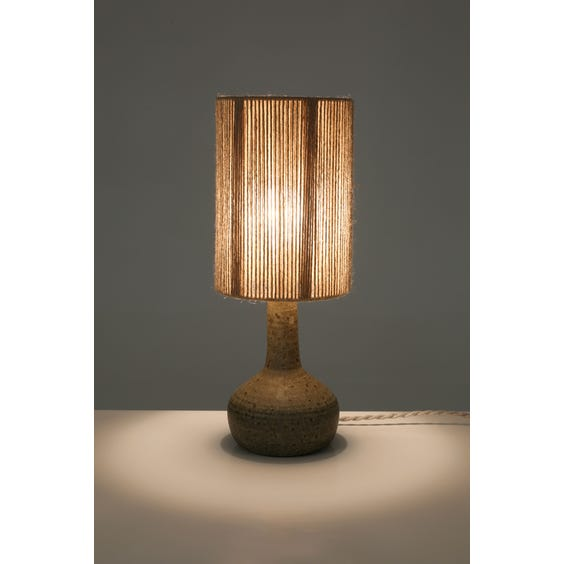 French grey speckled teardrop lamp image