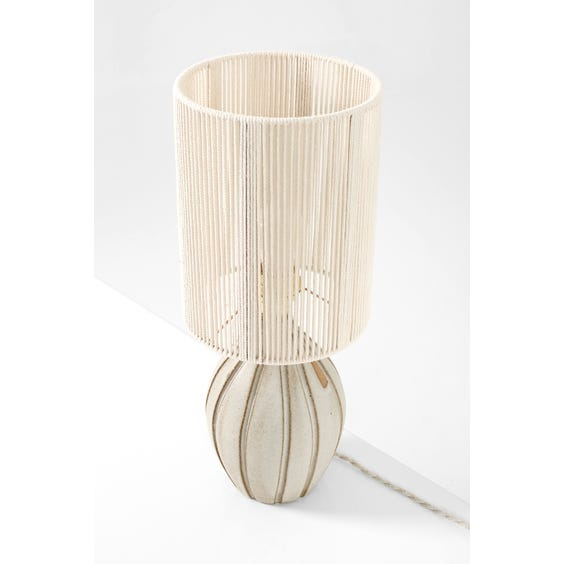 Ceramic light grey studio lamp image