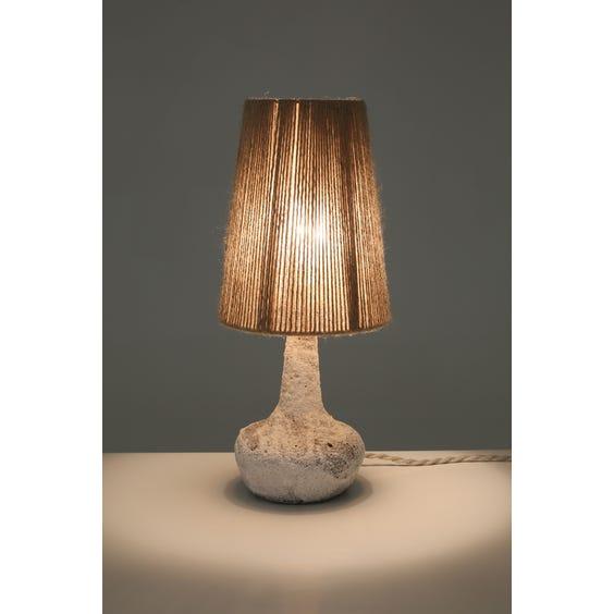 Volcanic glazed studio pottery lamp image