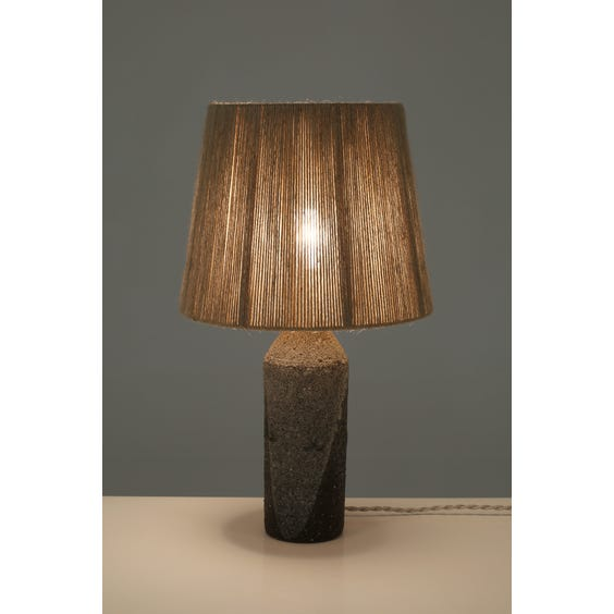 Brown and grey volcanic glazed lamp image