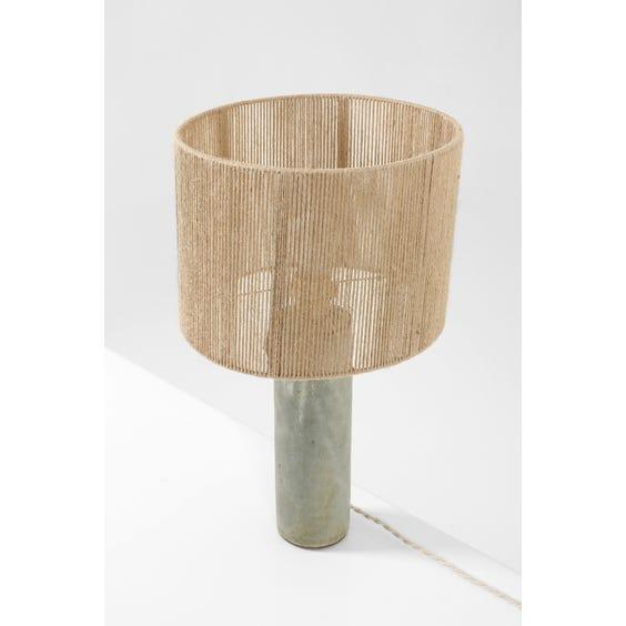 French mottled ceramic studio lamp image