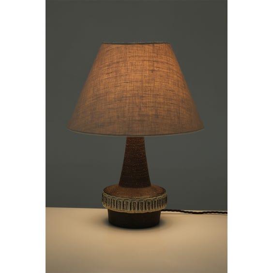 Danish etched ceramic lamp  image