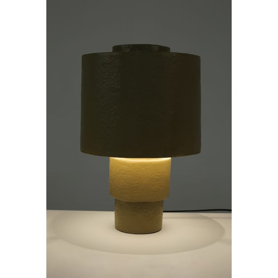 Postmodern textured lime gold lamp image