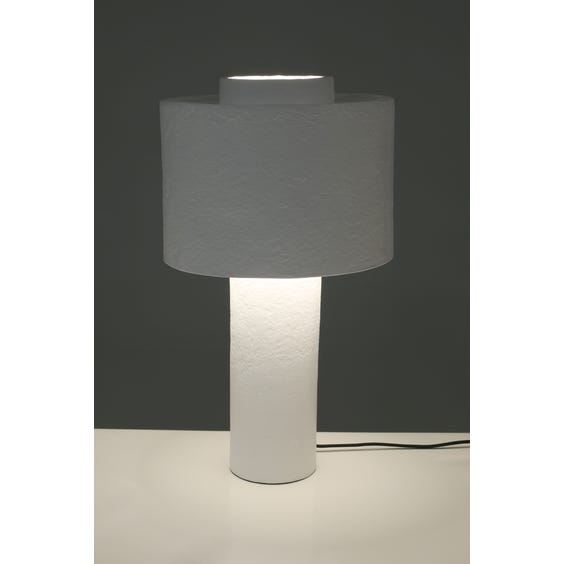 Sculptural white textured lamp  image