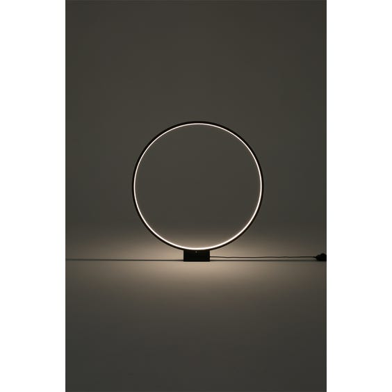 Modern black circular led table lamp image