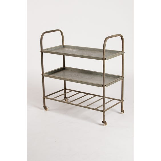 Industrial tin tiered trolley image