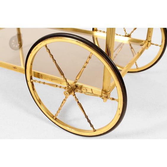 Midcentury brass bar trolley image