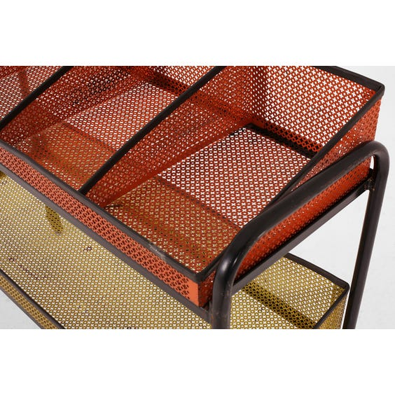 Vintage perforated metal trolley image