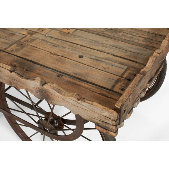 Reclaimed wooden display trolley image