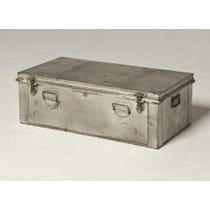 Vintage stripped metal trunk