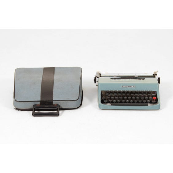 Vintage powder blue typewriter image