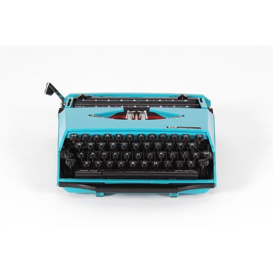 Vintage turquoise Corona typewriter image