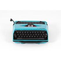 Vintage turquoise Corona typewriter