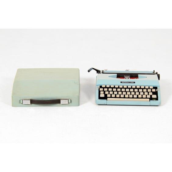 Duck egg blue Imperial typewriter image