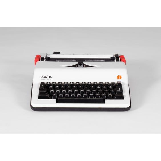 Vintage white Olympia typewriter image