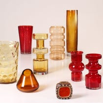 Example of bright coloured vases