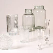 Example of clear glass vases